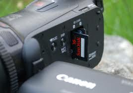 Canon Vixia HF G10 Video Storage