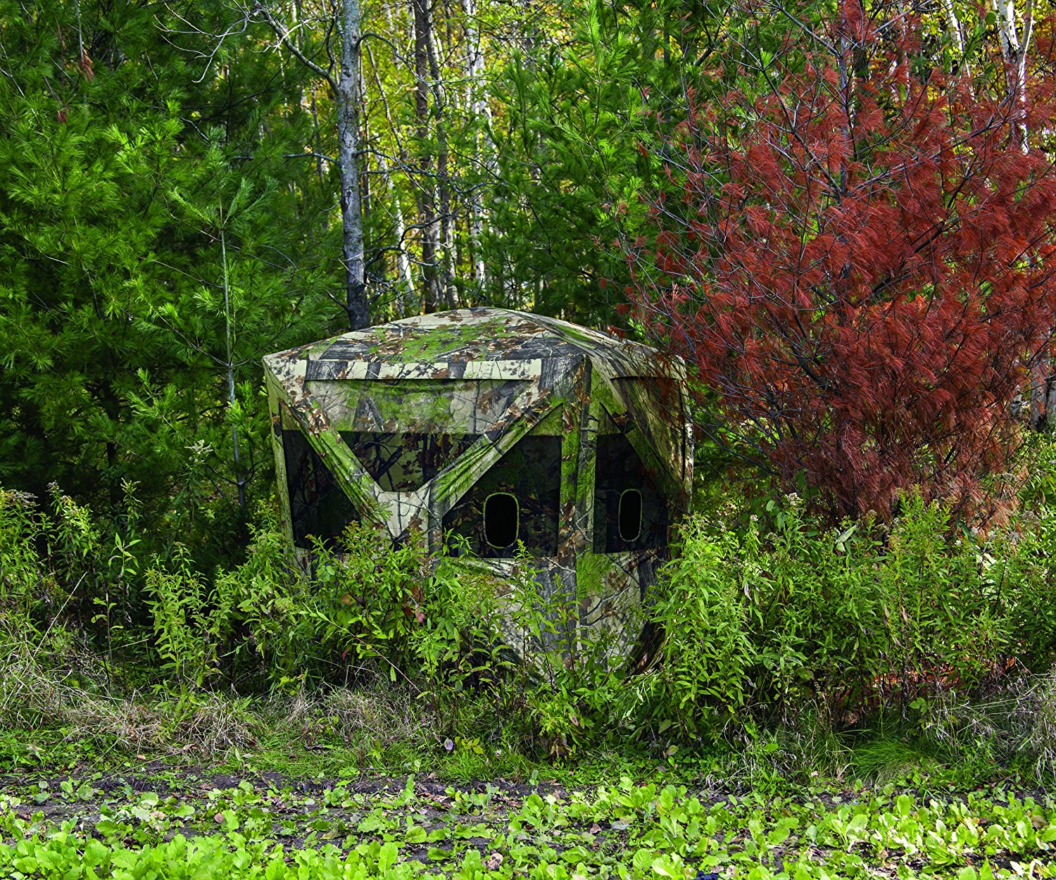 ground for luckyshuntingblinds hunting blinds linda bow blind luckys at