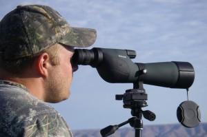 Straight vs. angled spotting scope